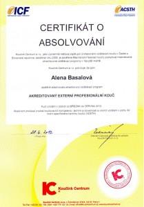Akreditovaný externí profesionální kouč – certifikát